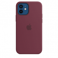 Чехол Silicone Case iPhone 12 mini Бордовый