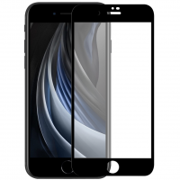 Защитное стекло iPhone 7 / 8 / SE 2020 Чёрное