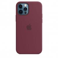 Чехол Silicone Case iPhone 12 Pro Max Бордовый