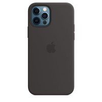 Чехол Silicone Case iPhone 12 Pro Max Чёрный