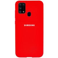 Чехол Samsung Galaxy A21s Красный Силикон