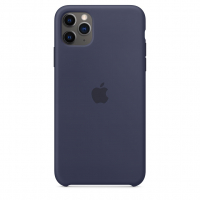 Чехол Silicone Case iPhone 11 Pro Max Тёмно-синий