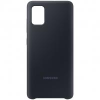 Чехол Silicone Cover Samsung Galaxy A51 Чёрный