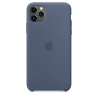 Чехол Silicone Case iPhone 11 Pro Сине-серый