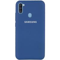 Чехол Silicone Cover Samsung Galaxy A11 Синий