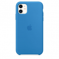 Чехол Silicone Case iPhone 11 Синий