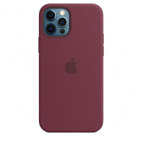 Чехол Silicone Case iPhone 12 Pro Max Бордовый