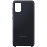 Чехол Silicone Cover Samsung Galaxy A71 Чёрный